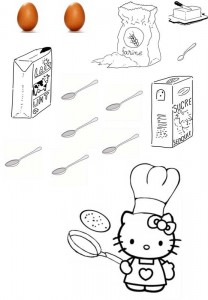 images des ingrédients de la recette de crêpes pour la chandeleur