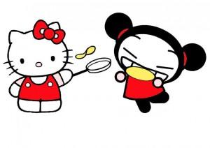 Kitty et Pucca font des crêpes