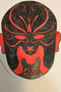 Un autre masque pour le nouvel an chinoisen rouge et noir