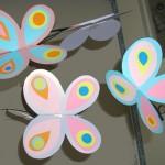 Mobile papillon de chez tete a modeler