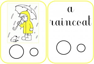 flashcards - raincoat